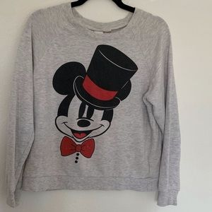 Top Hat Mickey Mouse Pullover Sweater